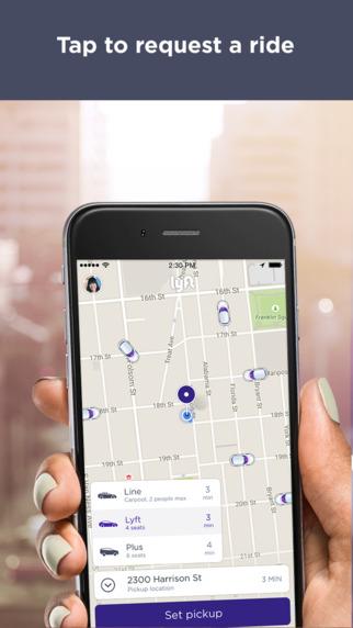 Uso compartido de la ubicación de Lyft App Ride
