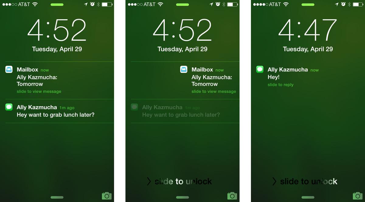 Notificación aplicación nativa móvil